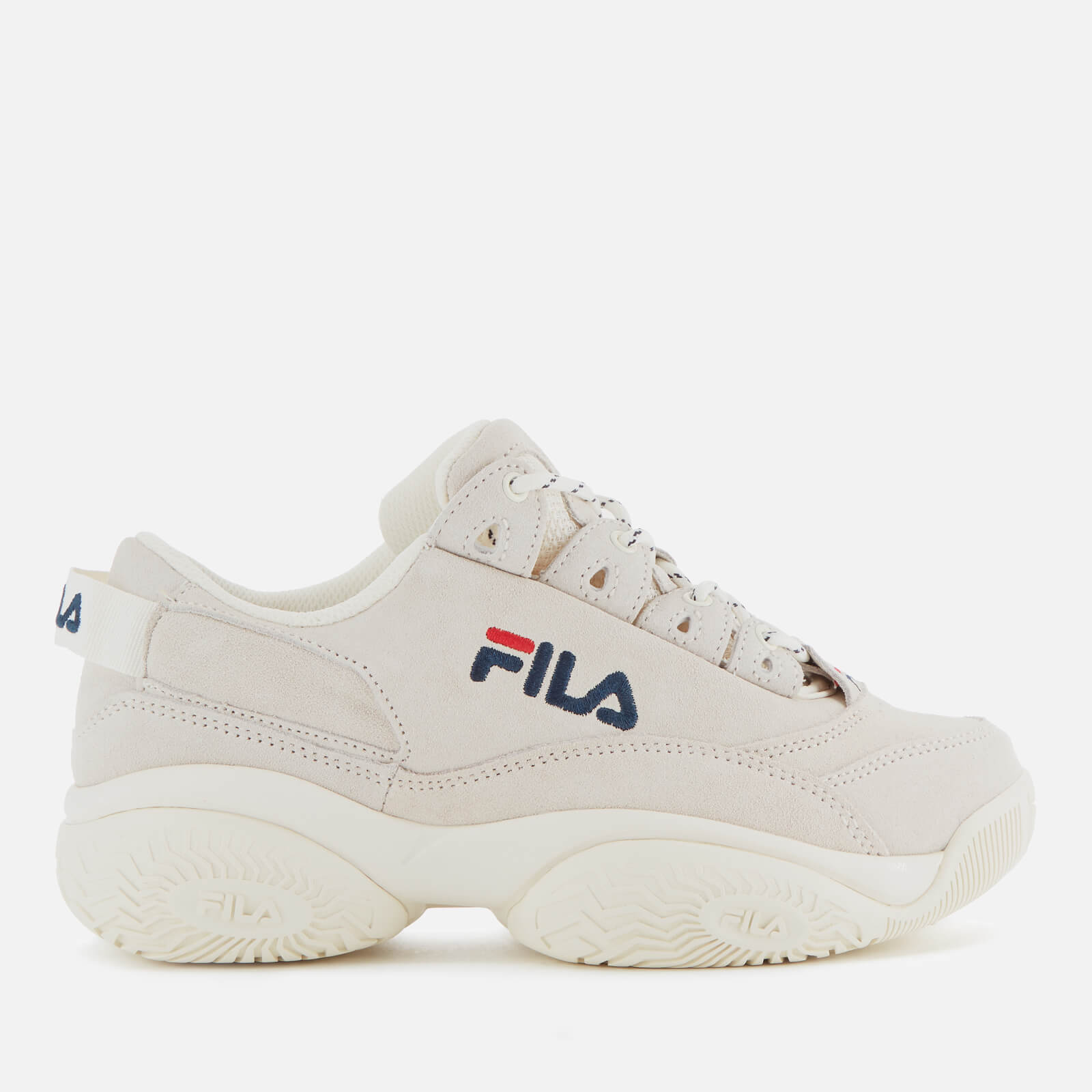 FILA Women's Provenance Trainers - Gardenia/Navy/Red