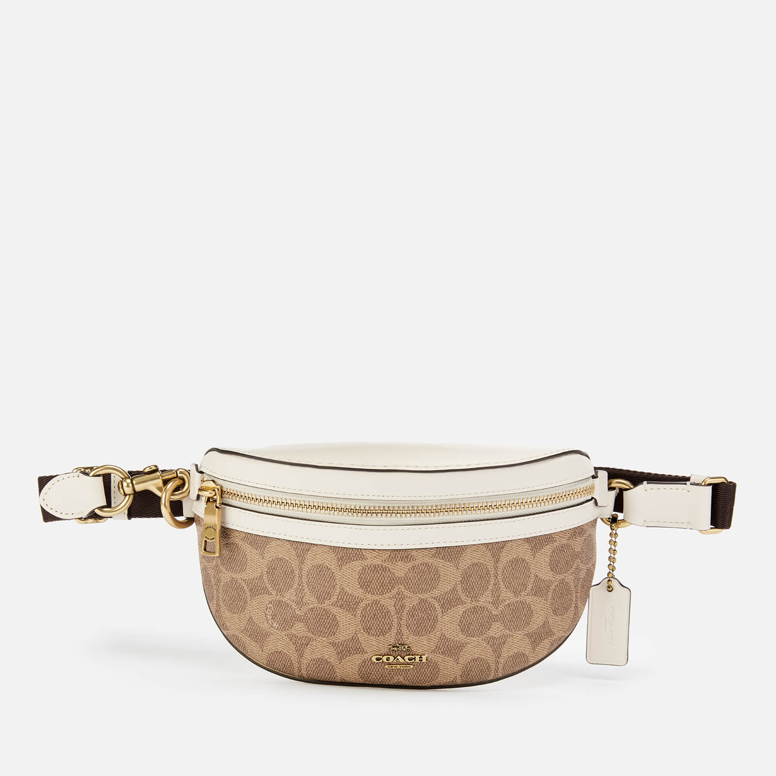 Coach Women's Coated Canvas Signature Belt Bag - Tan Chalk