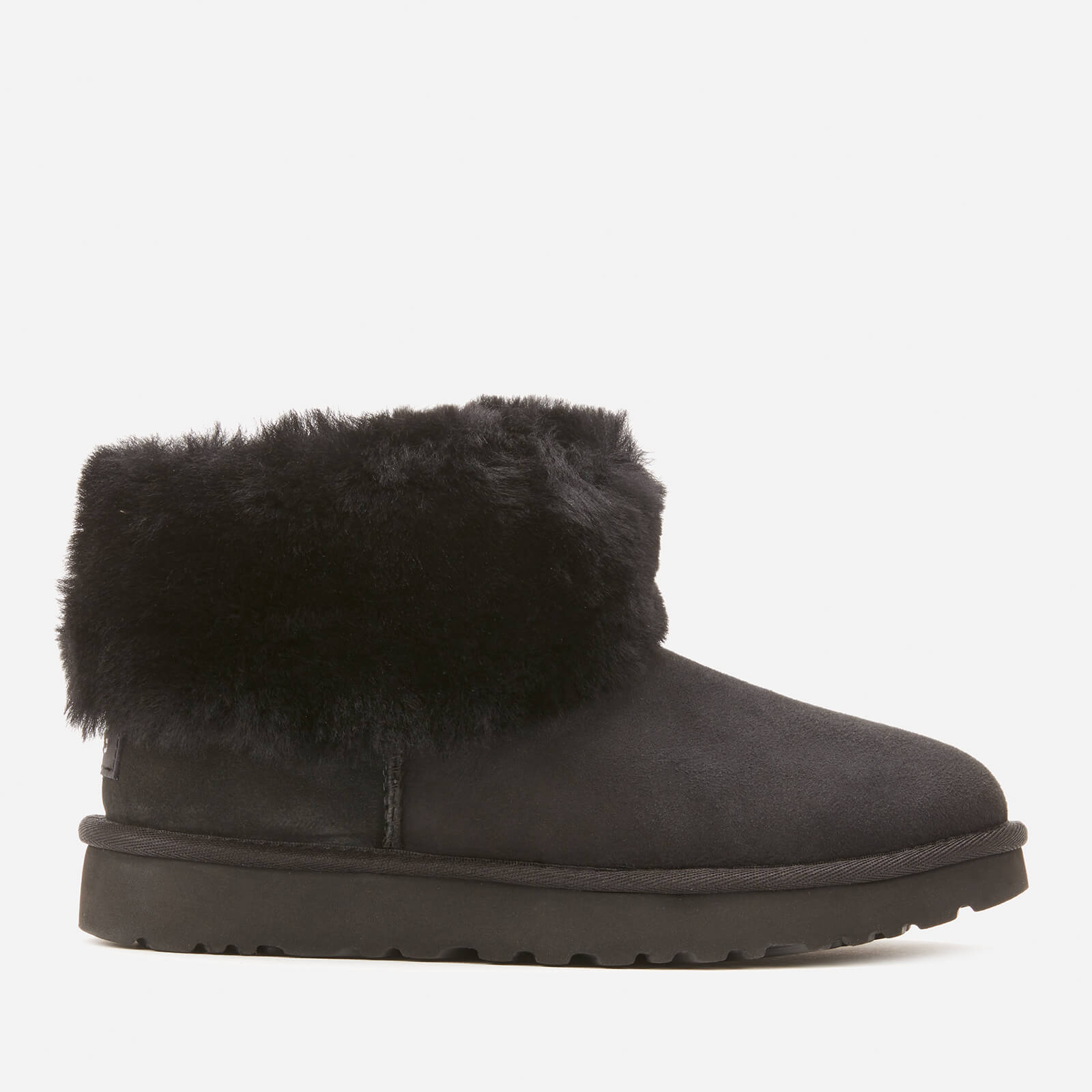 UGG Women's Classic Mini Exposed Sheepskin Boots - Black - UK 5