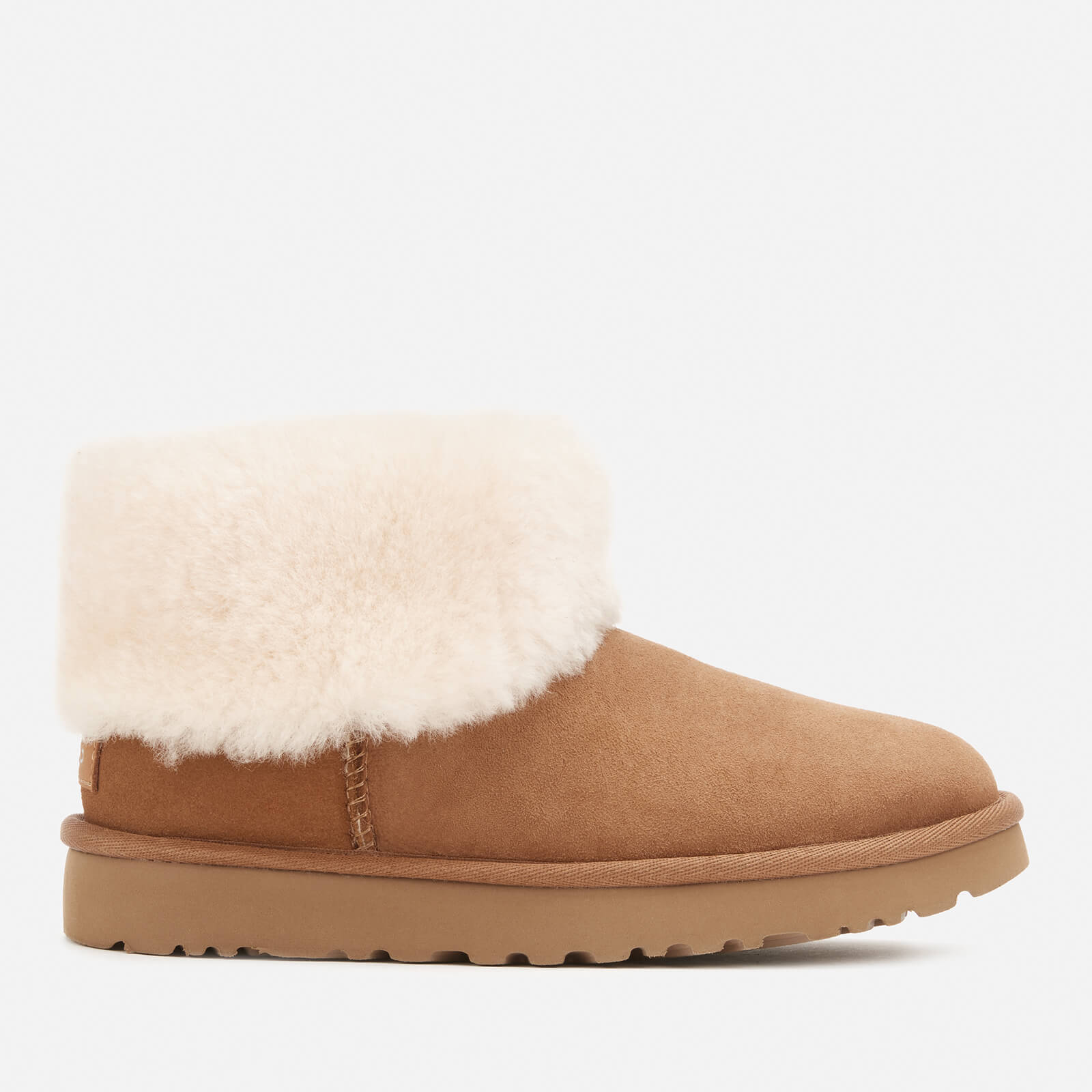 UGG Women's Classic Mini Exposed Sheepskin Boots - Chestnut - UK 7