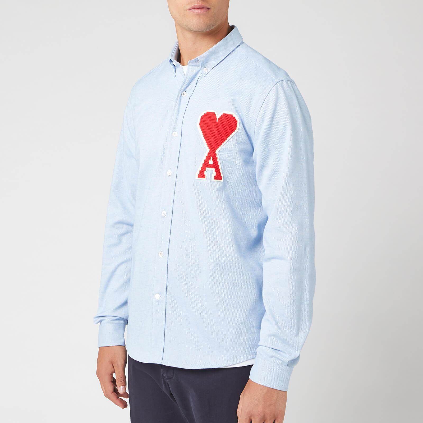 AMI Men's Oxford Long Sleeve Shirt - Bleu Ciel - 40