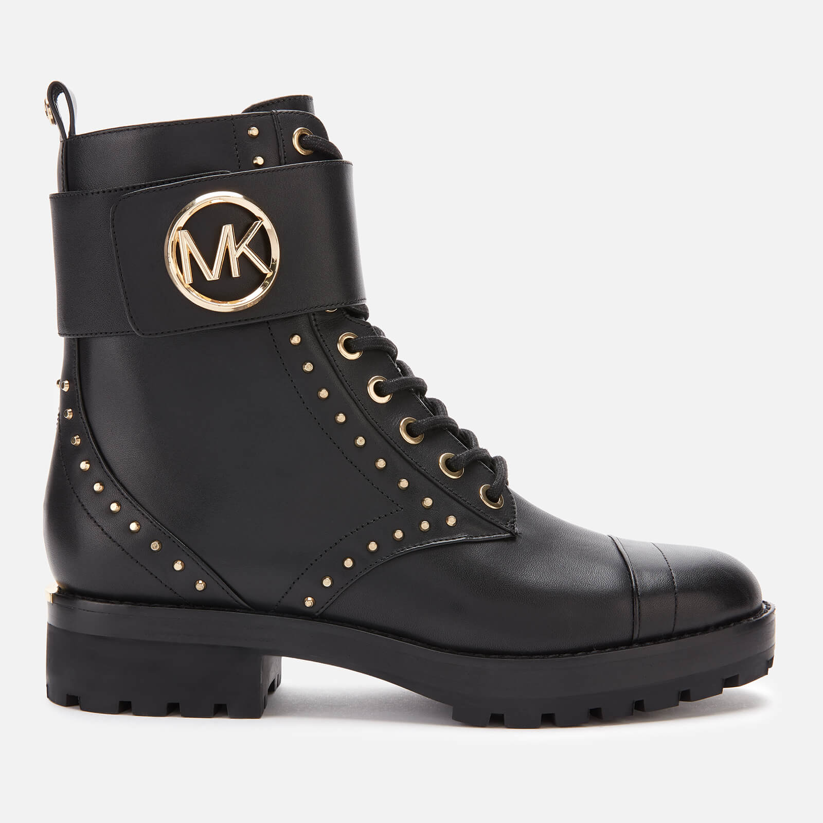 Tatum Leather Lace-up Boots - Black