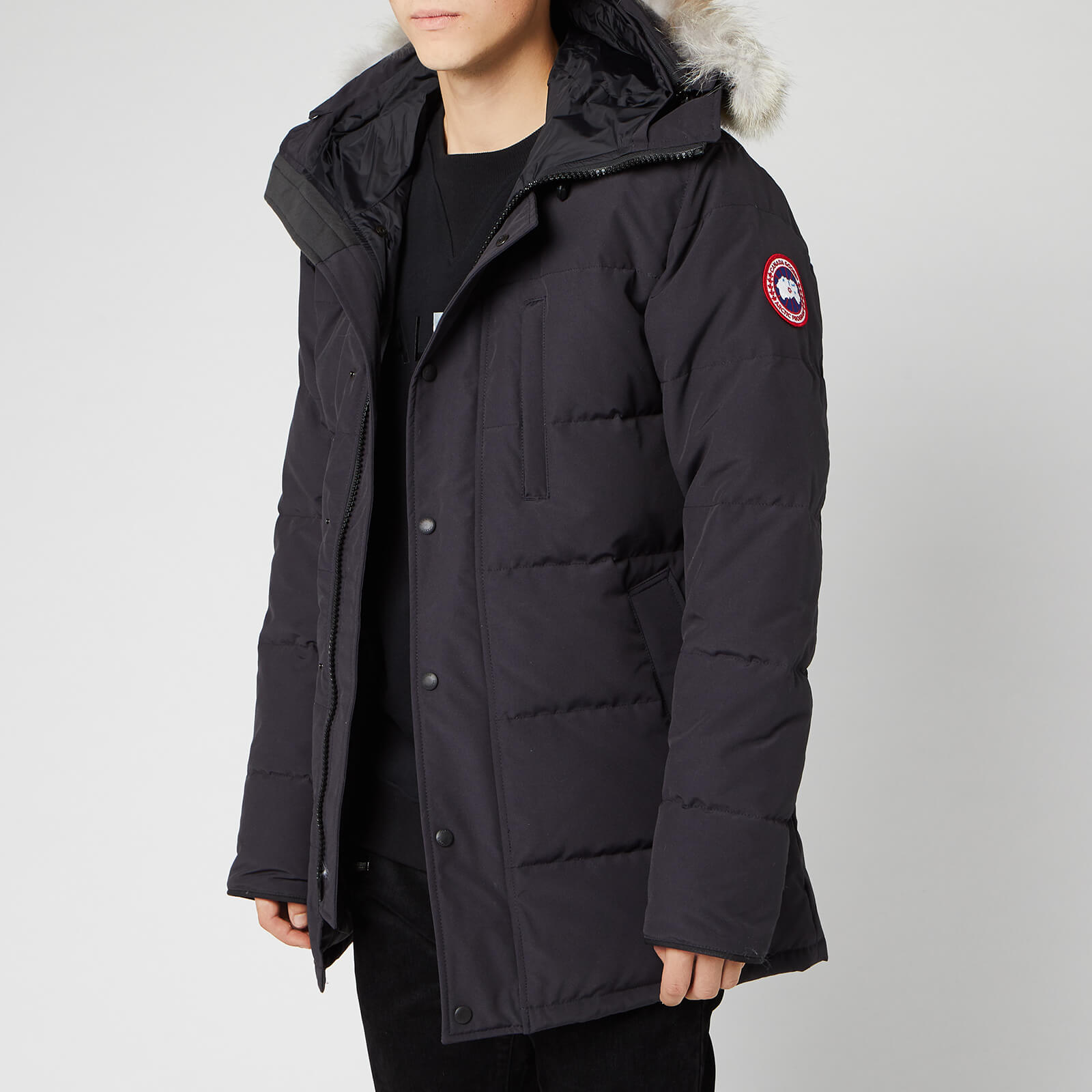 timeless design e8c06 c43a1 Canada Goose Men's Carson Parka Jacket - Navy