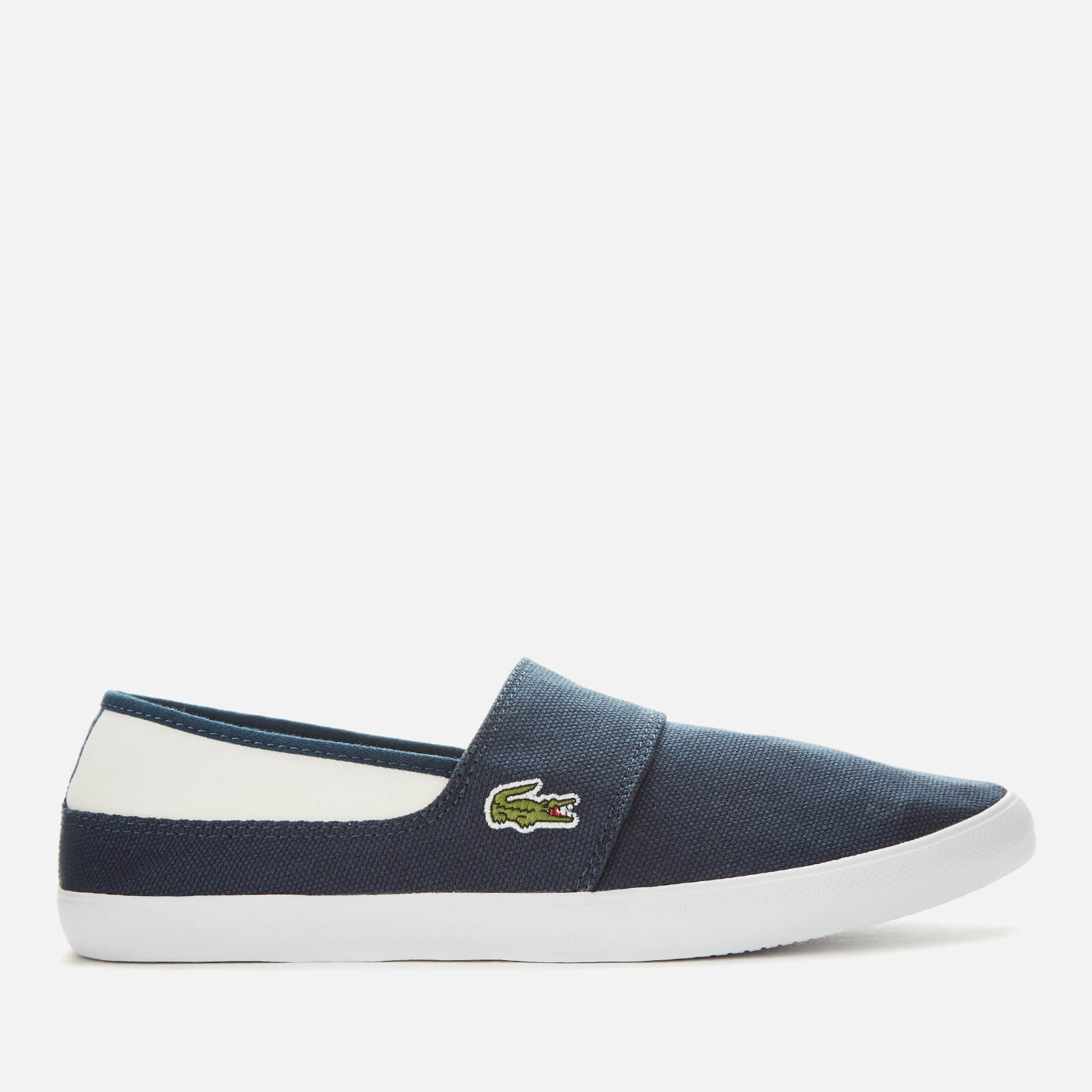purchase cheap cute cheap wholesale online Lacoste Men's Marice Canvas Slip On Trainers - Navy/White