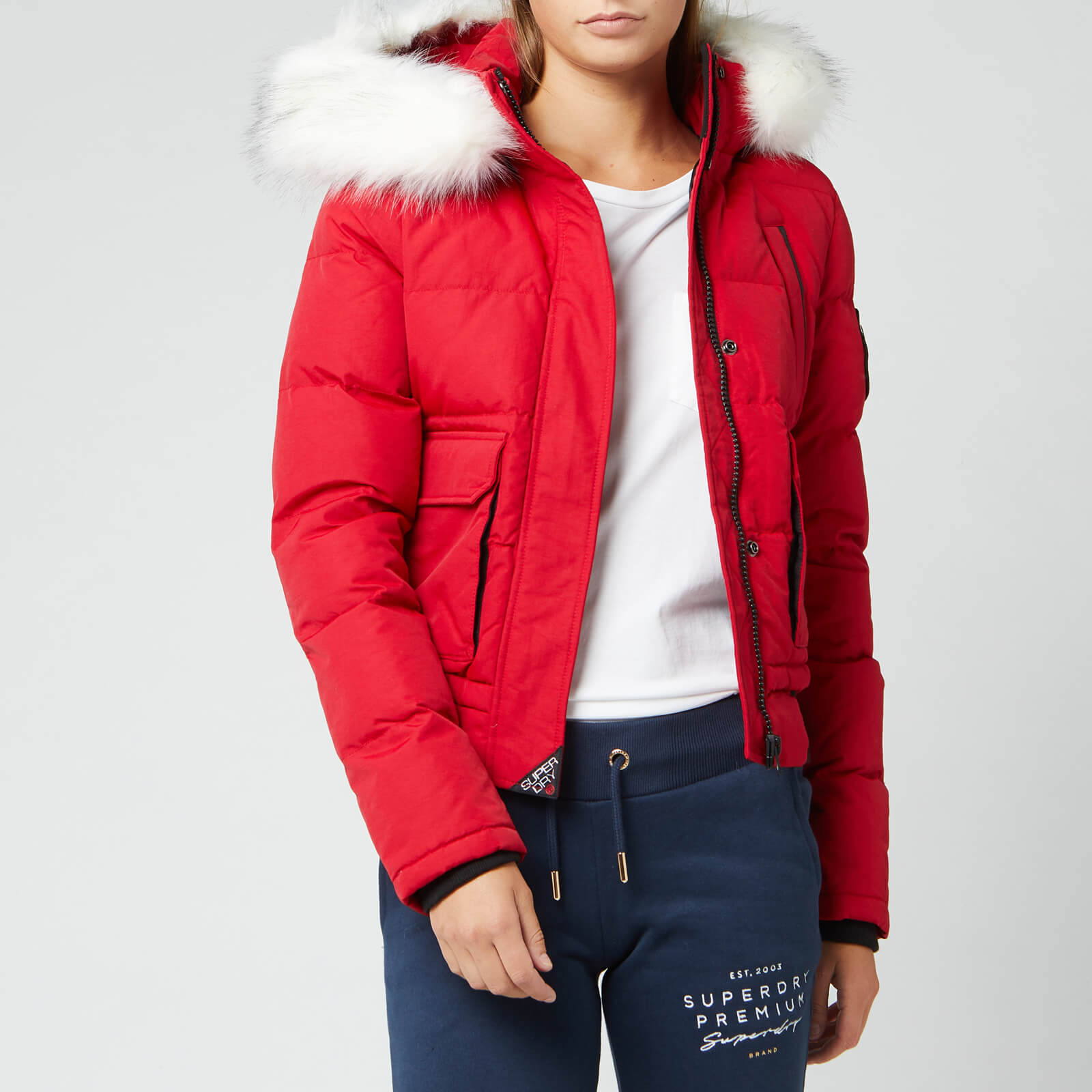 new season discount up to 60% many choices of Superdry Women's Everest Ella Bomber Jacket - Chili Pepper