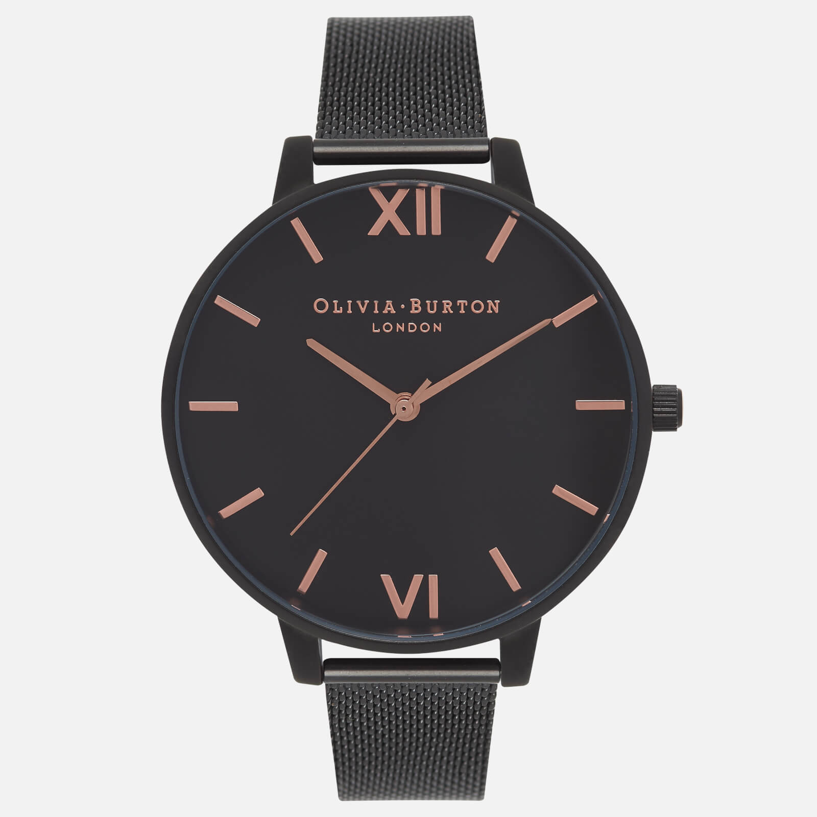 Olivia Burton Women's After Dark Matte Watch - Rose Gold and Black