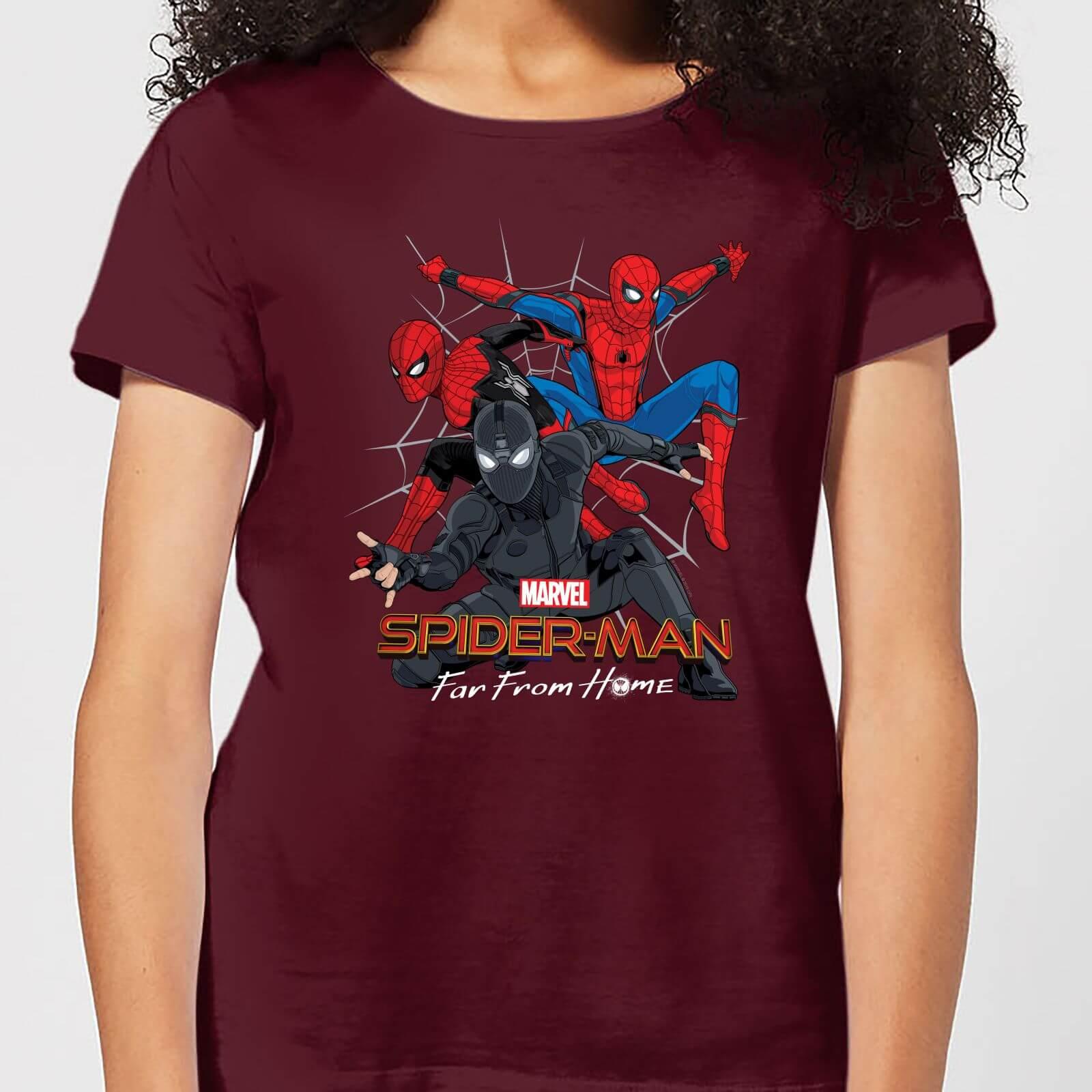 76a286e12 Spider-Man Far From Home Multi Costume Women's T-Shirt - Burgundy Clothing  | Zavvi