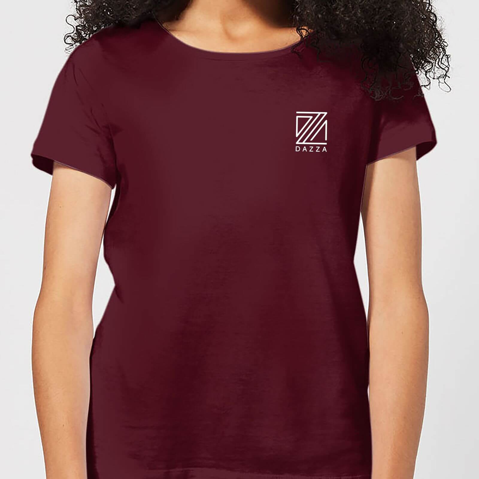 competitive price look out for hot-selling newest Dazza Pocket Text Women's T-Shirt - Burgundy