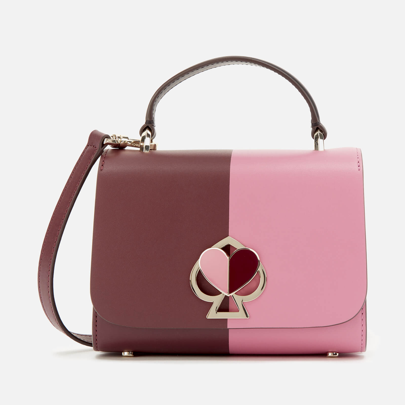 Kate Spade New York Women's Nicola Bicolor Twistlock Small Top Handle Bag - Cherry 原價395英鎊 優惠價237