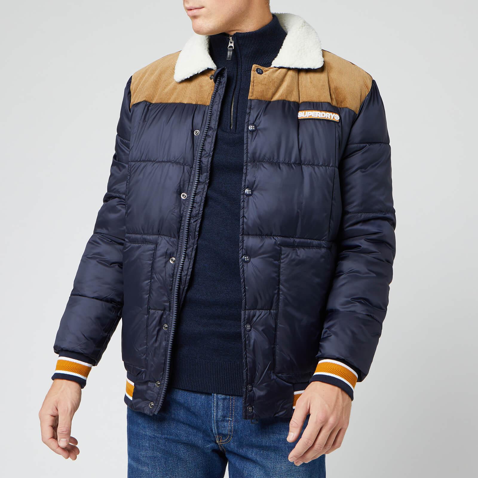 Superdry Men's Downhill Racer Box Quilt Jacket True Navy