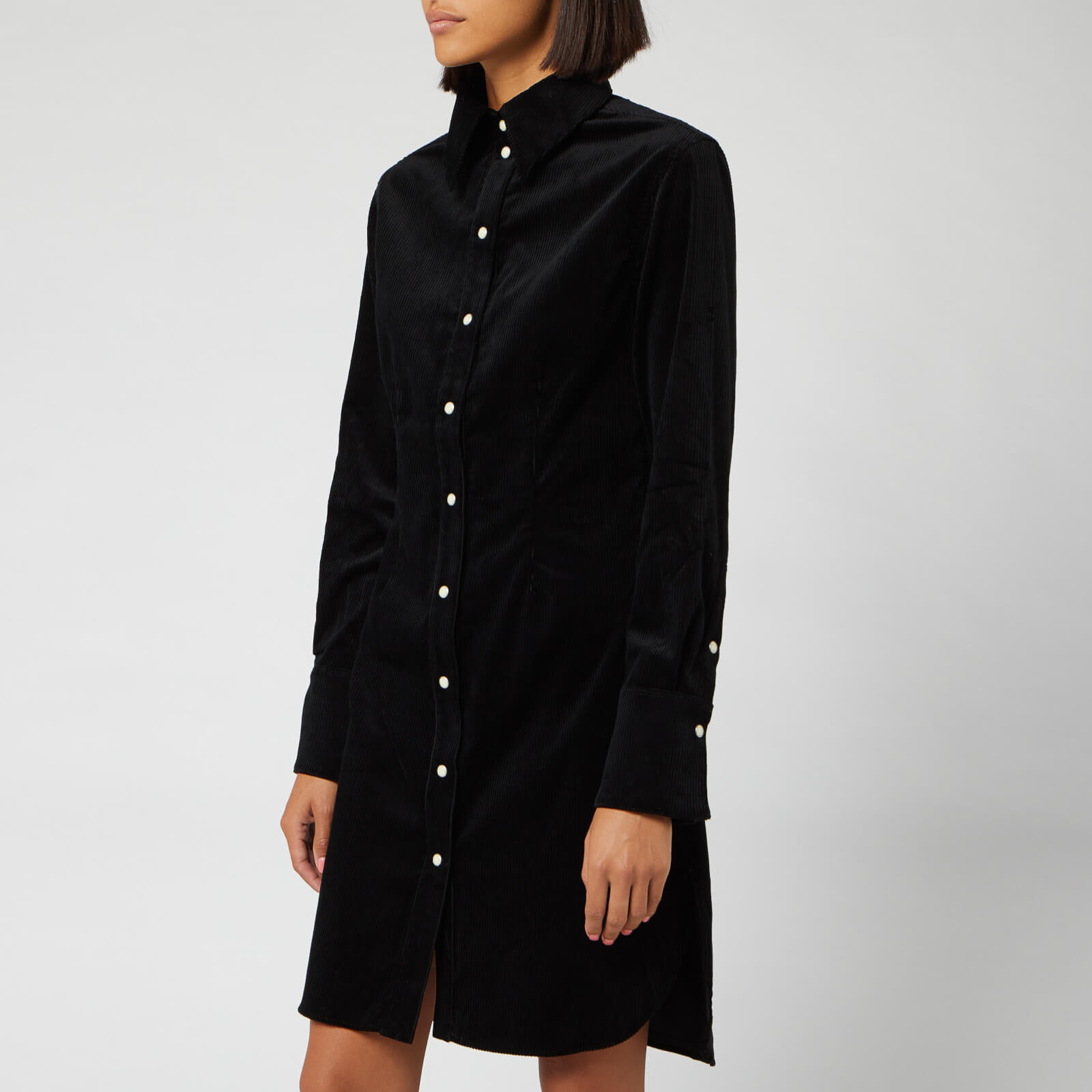 Maison Kitsuné Women's Fitted Shirt Dress - Black - FR 36/UK 8