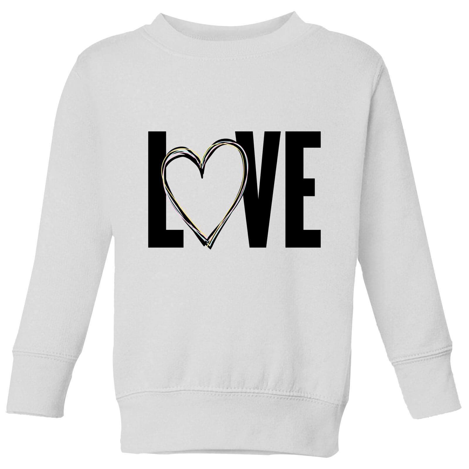 I Love Heart Working Kids Sweatshirt