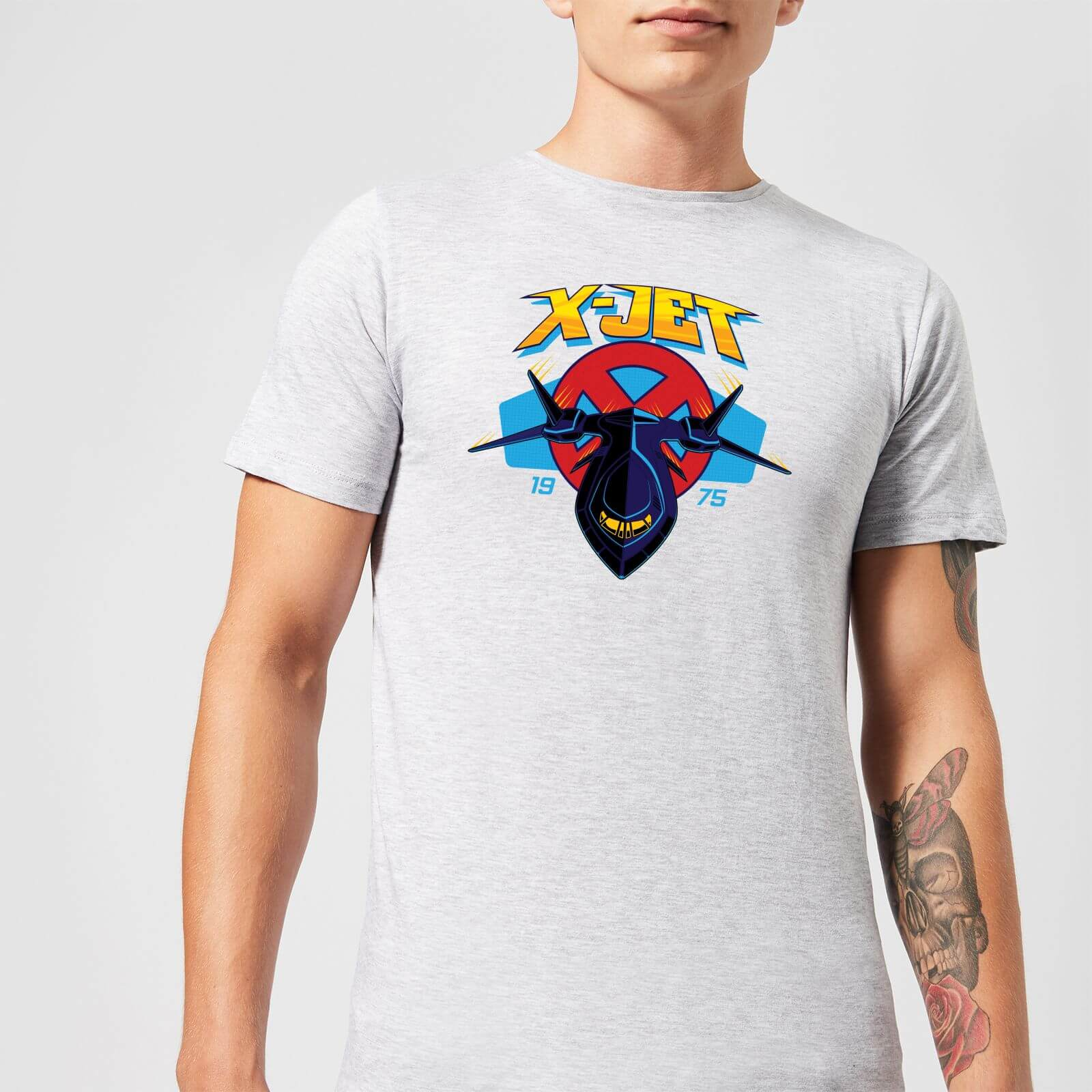 5e691748 Marvel X-Men X-Jet Men's T-Shirt - Grey