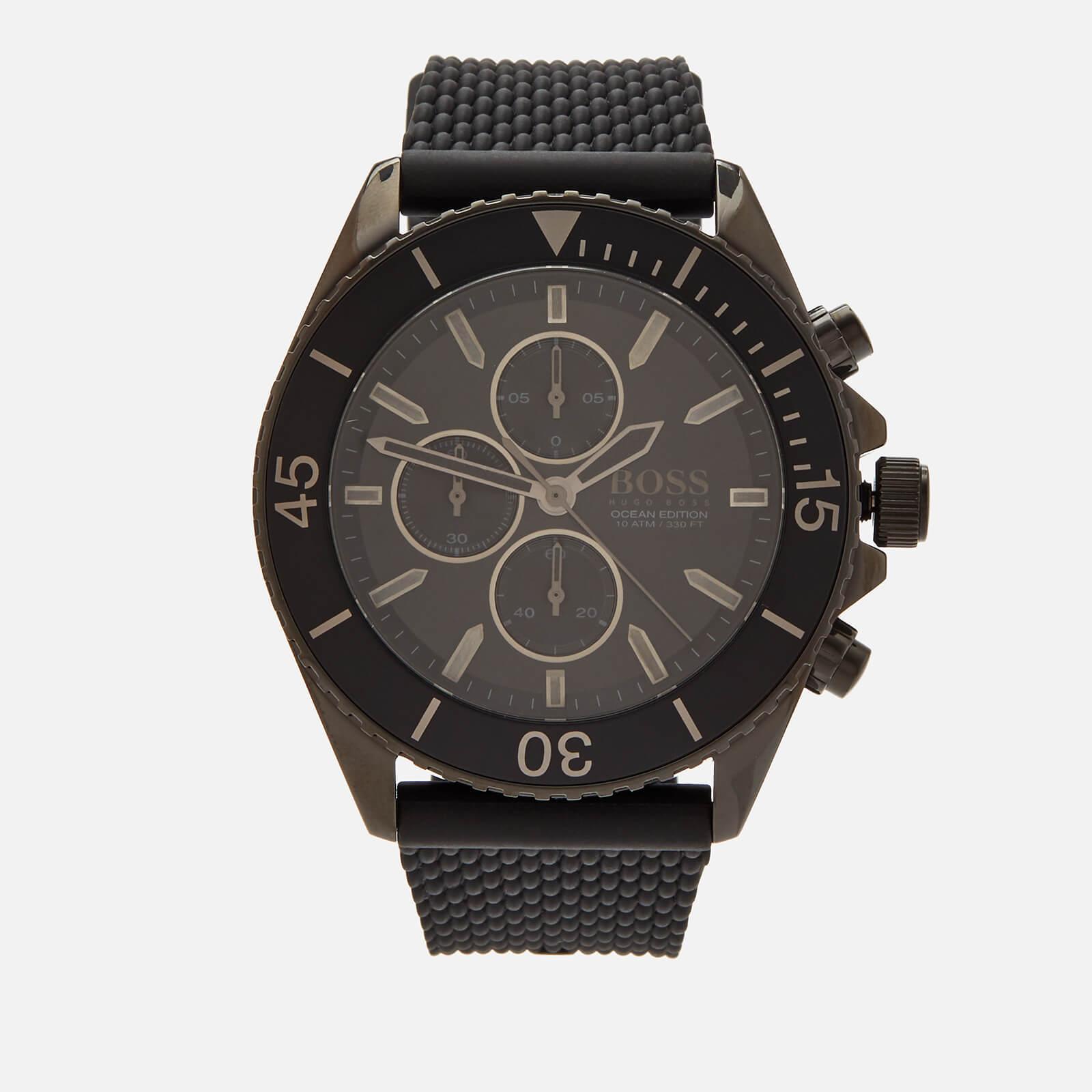 BOSS Hugo Boss Men's Ocean Edition Mesh Strap Watch - Rouge Black