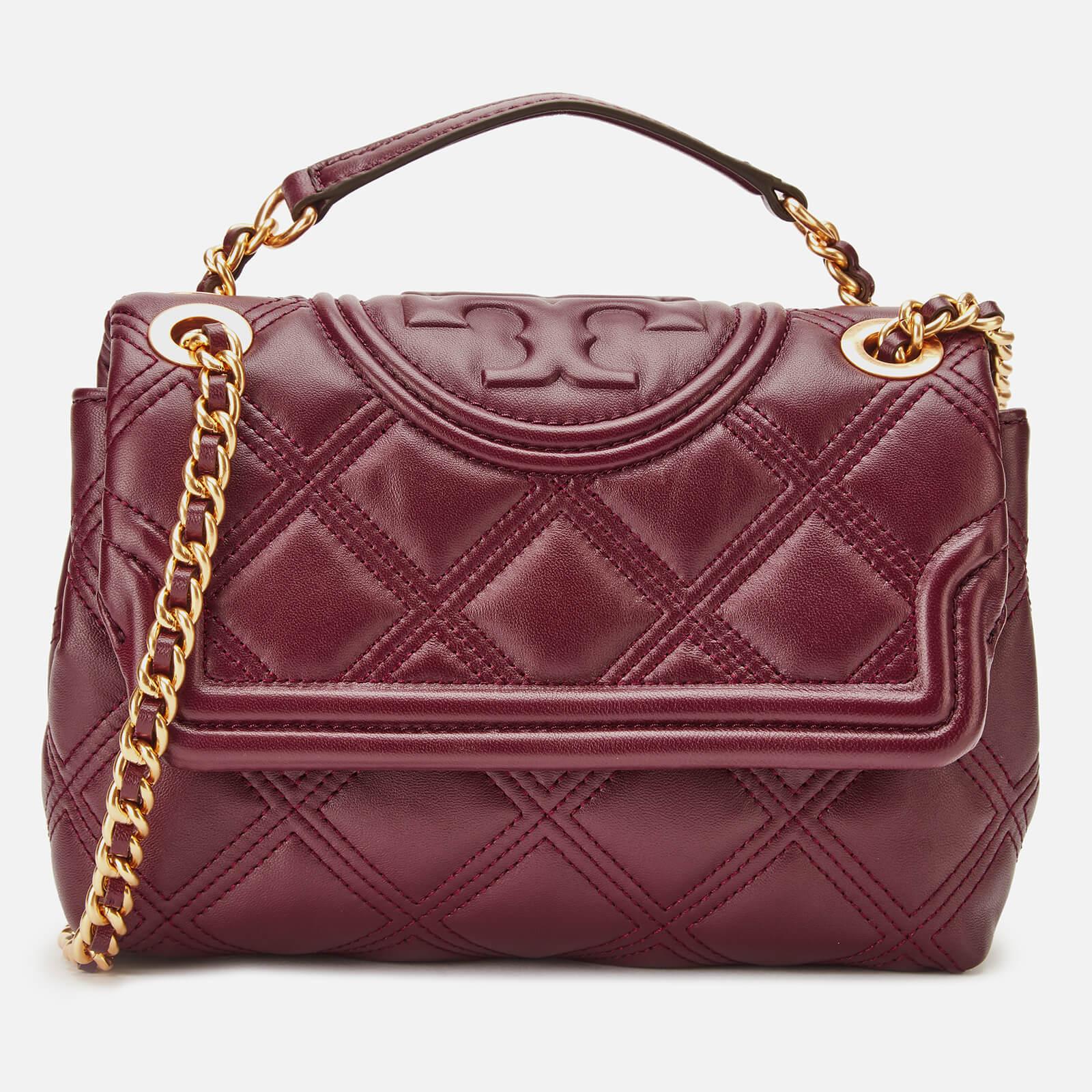 Tory Burch Women's Fleming Soft Small Convertible Shoulder Bag - Claret