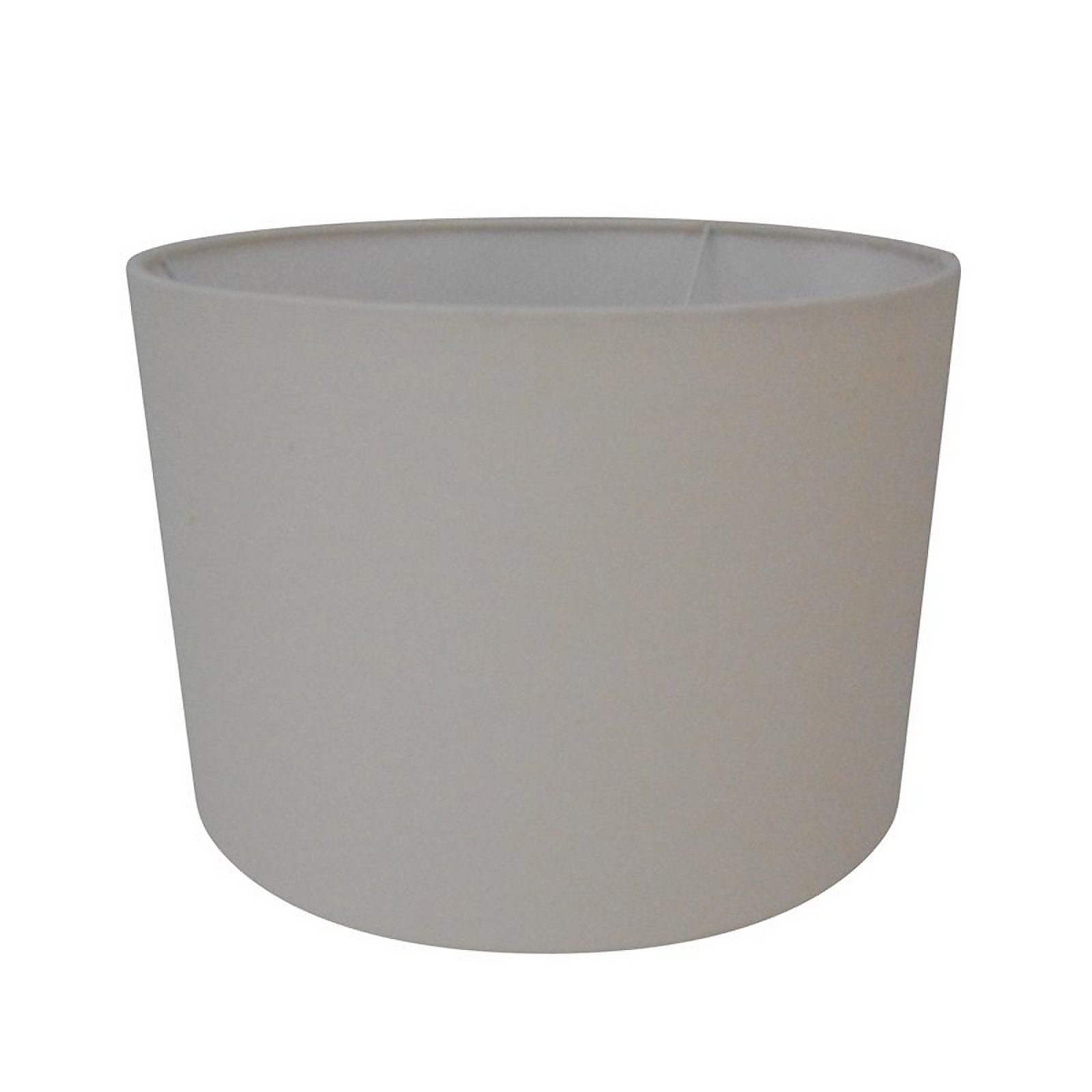 25cm Cream Self Lined Linen Drum Shade