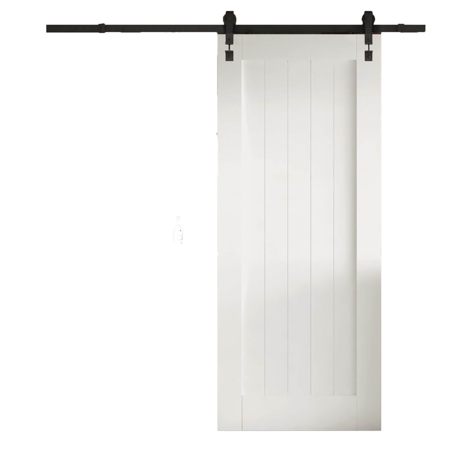 Cottage White Primed Flb Sliding Barn Door With Industrial Track 2073 X 862mm Homebase