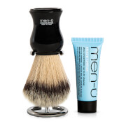 men-ü DB Premier Shave Brush mit Chromständer - Black