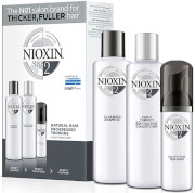 NIOXIN Hair System Kit 2 for Noticeably Thinning Natural Hair (3 Products)