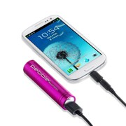 Veho Pebble Smartstick Emergency Portable Battery Back Up Power - Pink (2200mAh)