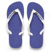 Havaianas Unisex Brasil Logo Flip Flops - Marine Blue