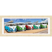 "VW Californian Camper Campers Beach - 30"""" x 12"""" Framed Photographic"