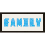 "GB Cream Mount Family Photo Font - Framed Mount - 12"""" x 30"""