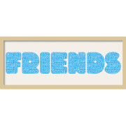 GB Cream Mount Friends Fatty Font - Framed Mount - 12