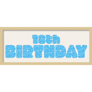 GB Cream Mount 18th Birthday Fatty Font - Framed Mount - 12