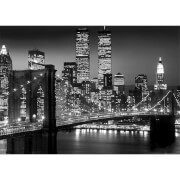 New York Brooklyn Bridge Night - Giant Poster - 100 x 140cm