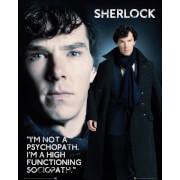 Sherlock Sociopath - Mini Poster - 40 x 50cm