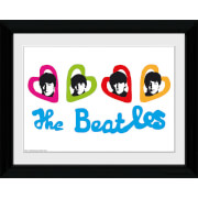 The Beatles Love Hearts - Collector Print - 30 x 40cm