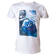 The Legend Of Zelda with Link - T-Shirt (White) SIZE L