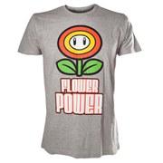 Flower Power - T-Shirt (Grey)