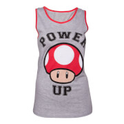 Power Up Tank Top Girls - Grey/Red - L