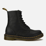 Dr. Martens Women's Pascal Virginia Leather 8-Eye Lace Up Boots - Black