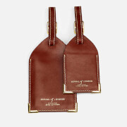 Aspinal of London Men's Luggage Tags - Cognac