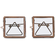 Nkuku Tiny Danta Frame - Antique Copper - Set of 2 - 7x7x7cm