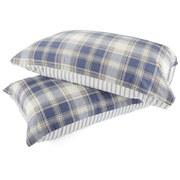 Catherine Lansfield Tartan Housewife Pillowcase - Pair - Navy