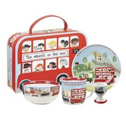 Little Rhymes Wheels on the Bus 4 Piece Breakfast Set