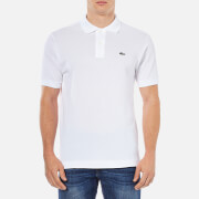 Lacoste Men's Basic Pique Short Sleeve Polo Shirt - White