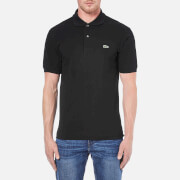 Lacoste Men's Basic Pique Short Sleeve Polo Shirt - Black