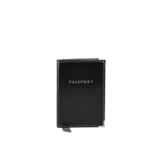 "Aspinal of London Plain ""Passport"" Cover - Black EBL"