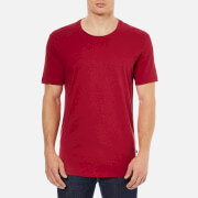 J.Lindeberg Men's Axtell Crew Neck Slim Fit T-Shirt - Red Deep Melange