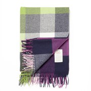 Avoca Lambswool Pioneer Throw (142 x 183cm) - Purple/Green/Blue
