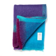 Avoca Mohair Brittas Large Throw (142 x 183cm) - Turquoise/Pink/Purple