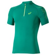 Asics Men's 1/2 Zip Running T-Shirt - Jungle Green