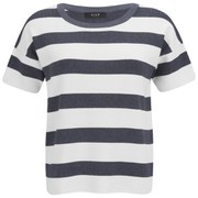 VILA Women's Cannon Striped Top - MGM Stripes