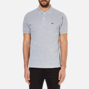 Lacoste Men's Classic Fit Marl Pique Polo Shirt - Silver Chine