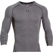 Under Armour Men's Armour HeatGear Long Sleeve Compression Top - Carbon Heather/Black